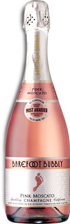 Barefoot Bubbly Pink Moscato 4 PK