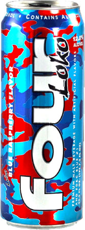 Four Loko Blue Rasberry Flavor