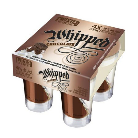 Twisted Shotz Whipped Chocolate 4 Pack