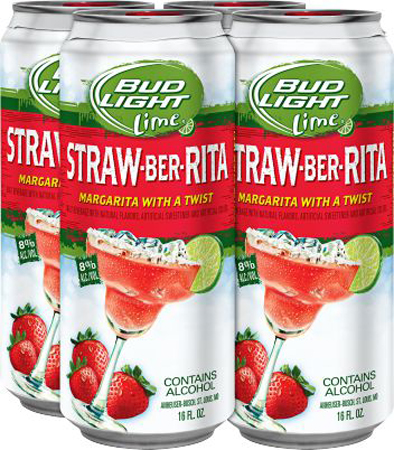 Bud Light Lime Straw-ber-rita 4 PK Cans