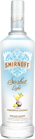Smirnoff Sorbet Light Pineapple Coconut Vodka