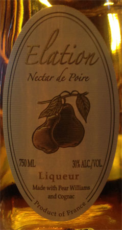 Elation Liqueur With Pear And Cognac