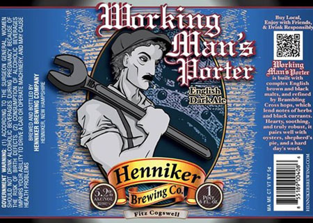 Henniker Working Man's Porter Bottle
