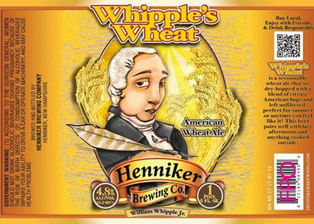Henniker Whipple's Wheat Bottle