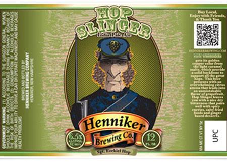 Henniker Hopslinger IPA Bottle