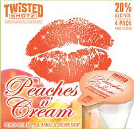 Twisted Shotz Peaches N' Cream 4 Pack