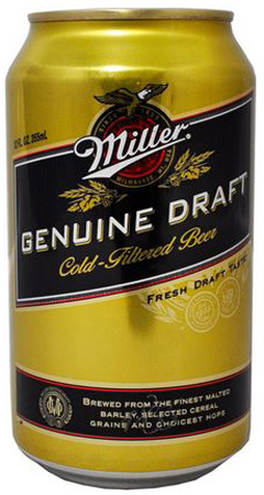 Miller Genuine Draft 30 PK Cans