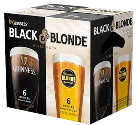 Guinness Black & Blonde American Lager 12 PK Bottles