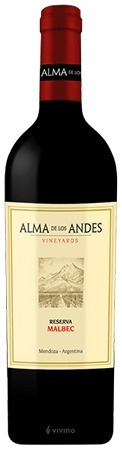 Alma De Los Andes Reserva Malbec