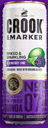 Crook & Marker Hard Seltzer Blackberry Lime 4 PK Cans