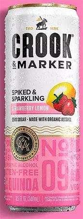 Crook & Marker Hard Seltzer Strawberry Lemon 4 PK Cans