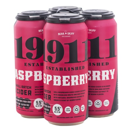 1911 Cider Raspberry 4 PK Cans