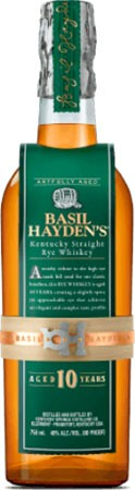 Basil Hayden's Rye Bourbon Whiskey 10 Years