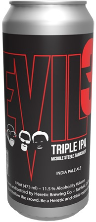 Heretic Evil 3 Triple IPA 4 PK Cans