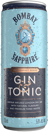 Bombay Sapphire Gin & Tonic 4 PK Cans