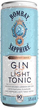 Bombay Sapphire Gin & Tonic Light 4 PK Cans
